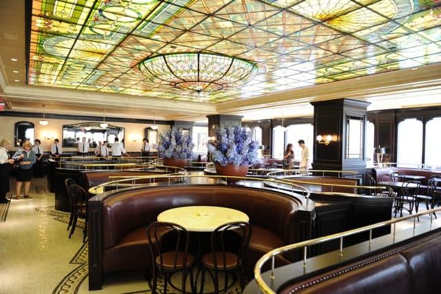 la societe inside interior stained glass ceiling toronto