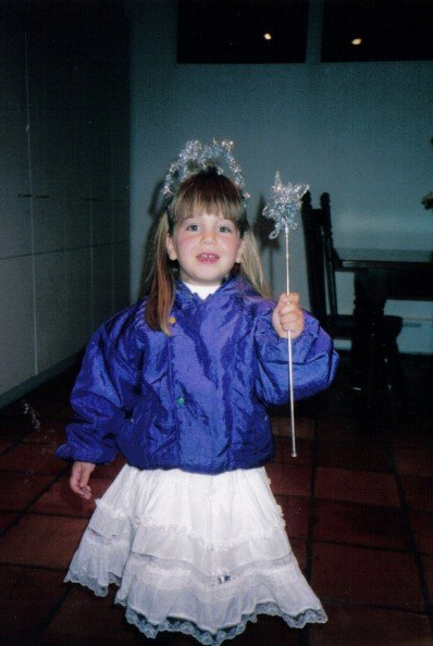 Lauren as the most adorable princess ever