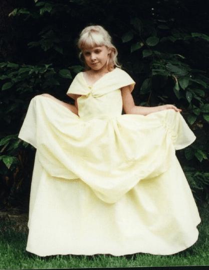 Beautiful Denise as a princess