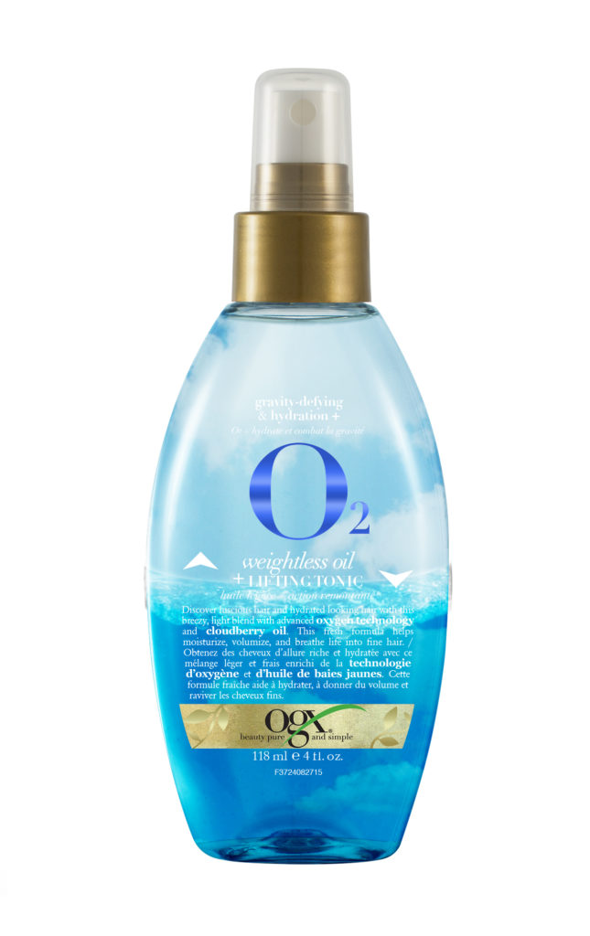 OGX Gravity-Defying & Hydration + O2 Lifting Oil & Hydration Tonic Spray($9.99)