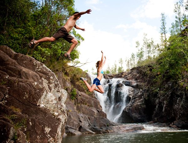 teva waterfall jump outdoors