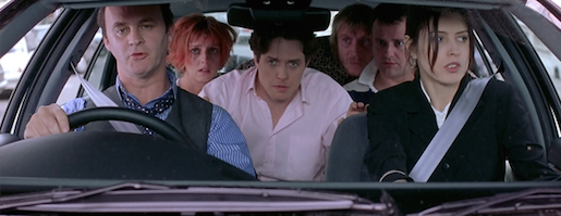 Notting Hill Car Scene Hugh Grant Romantic Comedy
