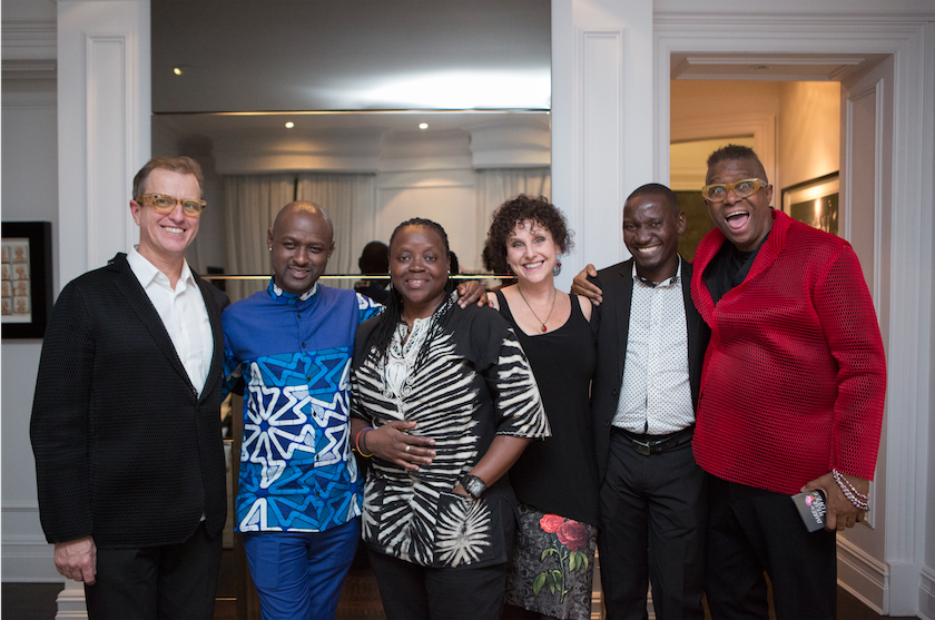 Left to Right Jim Searle, Peter Njane, Warry Ssenfuka, Ilana Landsberg-Lewis, Dennis Wamala, Chris Tyrell