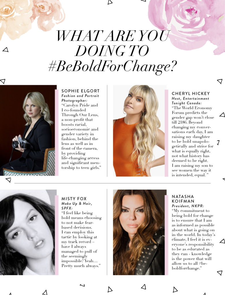 Sophie Elgort, Cheryl Hickey, Misty Fox, Natasha Koifman, NKPR, International Womens Day, Be Bold For Change